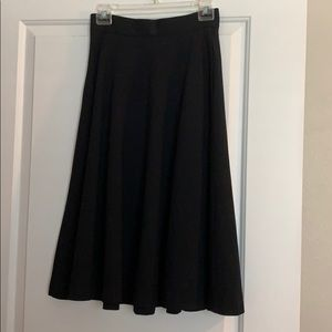 Banana Republic full black skirt